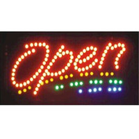 Wholesale Led Indoor Sign Open - 2016 limited sale customed low power 10X19 inch indoor Animated Running led open sign led boards wholesale
