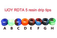 Wholesale E Cigarettes New Box Packages - New Arrival iJOY RDTA 5 Epoxy Resin Drip Tip Wide Bore Drip Tips for IJOY RDTA5 Tank Atomizer Individual Box Package e cigarette