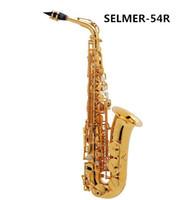 Wholesale Henri Saxophone 54 - Wholesale-Best sellers French Henri Selmer Paris Alto Saxophone E flat 54 electrophoresis gold Saxony Top Musical Instrument