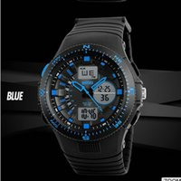 Children's sports gifts binary - Factory waterproof military wrist led backlight analog digital sports man watch Clock Kids Gift Boys Children Fashion Electronic