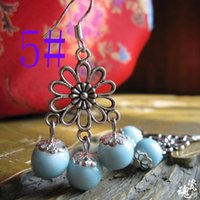 Wholesale newest earrings style - national wind style ceramic earrings long water drop shape earrings for women newest black earrings