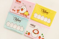 Gros-K15 Kawaii Molang Lapin A5 Mini PVC Grille Pen Sac d'école Papeterie Supply Storage Phone Case Cosmetic Stockage Maquillage Sac pochette