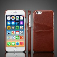 PU black sheep case - For iphone s plus case PU leather Case cover with Card Slot Skin Back cover sheep grain OPP BAG