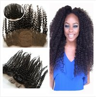 Kinky Curly 4x4 Silk Base Lace Frontal Bleached Knots Peruvian Cabelo Humano Seda Top Full Lace Frontals 13x4 Cheap Silk Frontal Encerramento
