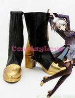 Wholesale God Japanese - Wholesale-Newest Custom Made Japanese Anime God Eater 2 Ciel Alencon B Cosplay Boots Shoes For Christmas Halloween Festival CosplayLove