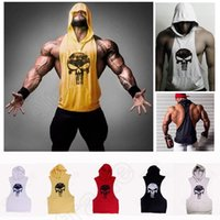 Mens Stringer Bodybuilding Tank Top Fitness Weste Solid Gym Cotton Singlet Tanks Fitness Kleidung Y-Back Tanks ärmellose Kapuzenpulli Großhandel