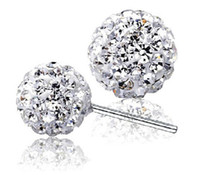 Wholesale balls for earrings for sale - Luxury brand Brilliant Design Cheap sterling silver Clear CZ Stud Earrings for women Double Ball shamballa earrings