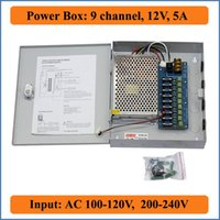 12v dc fotoğraf makinesi güç kaynağı toptan satış-9CH Portu DC12V 5A CCTV Kamera Güç Kutusu Adaptörü Anahtarlama Güç kaynağı Kutusu Dağıtım 9 kanallar Giriş AC 100-240 V DC 12 V