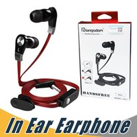 Wholesale remote control noise - Langsdom JM02 Tangle-Free Earphone Super Bass Sound 3.5mm In Ear Earphone with Mic Remote Control For iPhone Samsung HTC with Retail Package