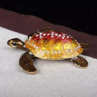 Wholesale Ring Christmas Ornament - Sea turtle trinket & jewelry box nautical decor ornament collectible figurines gifts