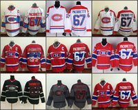 Frete grátis Homens baratos Montreal Canadiens Hockey Jerseys 67 Max Pacioretty Jersey Equipe Cor Home Red Stitched Jerseys