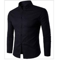 новые пароли оптовых-Wholesale- Men's  shirt Chinese traditional style  long - sleeved shirt Men's Tang suit collar shirt