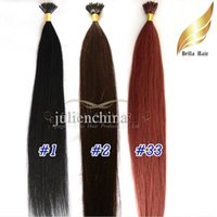 "Wholesale Brazilian I Tip Hair - 8A I-tip Pre-bonded Brazilian Human Hair 1g strand, 100g set, 20"" #1 #2 #33 Hair Extensions Silky Straight Free shipping"