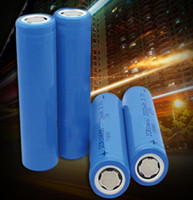 Wholesale Laser Lighter Wholesale - High quality ICR 18650 3.7v 2200MAH Flat Head Rechargeable LI-ion Battery Blue high quality for bicycle solar lamp laser lighter