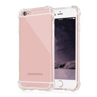 Wholesale Iphone Cover Hard Transparent - Hard Plastic Phone Cases For iphone 6 6s 7 8 Plus Note 8 TPU Shockproof Back covers