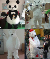 Wholesale High Quality Bear Suits - 2017 high quality Lovely Polar Bear Mascot Costume Adult Size Animal Theme White Bear Mascotte Mascota Outfit Suit Fancy Dress