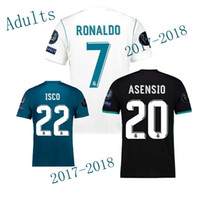 Wholesale Free Multi Games - The Thai version of the football jersey, 17 18 real Madrid's home game jersey, benzema's cristiano ronaldo's football jersey, free delivery