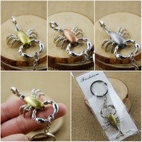 Wholesale Key Chain For Craft - Scorpion Keychain 3 Color Zinc Alloy Key Ring Lovely Key Chain Bag Pendant Girly Hostess Gift For Girl Women Bag Gift Craft C4L