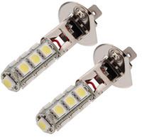 Wholesale H1 Super White - Car light H1 13SMD Fog LED daytime running  Driving DRL Light Bulb 5050 Super Bright White 12V Lamp Light
