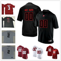 Wholesale Blackout Football - Custom Alabama Crimson Tide College Football red Pro Combat black Blackout white Heather Gridiron Gray Stitched Any Name Number 9 2 3 Jersey