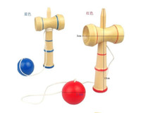 Wholesale Cup Ball Japanese - Free shipping 13.5*5.5cm kendama cup-and-ball game kendama japanese toy wooden toy kendama skills ball crack jade sword ball