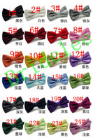 Wholesale Wholesaler For Bowties - New 2017 Fashion Bow Tie Pocket Married Bow Ties Male Bow Candy Color Butterfly Ties for Men Women Mens Bowties 24 Colors