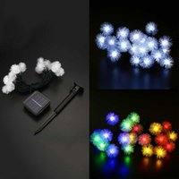 Vente en gros - Outdoor Xmas Solar Dandelion Ball 20-LED String Light Christmas Garden