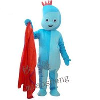 Wholesale Iggle Piggle Adults Costume - Iggle Piggle mascot costume high quality fancy dress adult size party Halloween,christmas party clothing