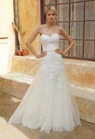 Wholesale Enzoani Lace - Vestido De Noivad 2016 Enzoani Bridal Collection Bridal Gowns Applique Chapel Train 2015 Beach Sweetheart Strapless Wedding Dresses