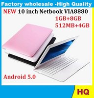 Wholesale netbook dhl - 1PCS 10 inch Netbook VIA8880 Dual Core UMPC Android 5.0 1.5GHz Wifi 1GB RAM 8GB HDD Camera Mini Laptop dhl free
