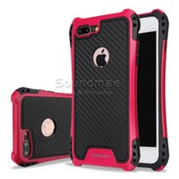 Wholesale Hybrid Combo Iphone - For Iphone 7 Plus Caseology Case For Iphone 6 6s Plus Samsung S7 Edge J710 Hybrid Armor Case Shockproof Combo Carbon Fiber Cover With OPPBAG
