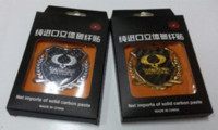 Wholesale Diy Metal Badges - 2 pcs metal stickers ssangyong ActYon Korando Rexton DIY 3D chromed car sticker logo car emblem car badge accessories