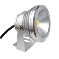 focos de jardín de alta potencia al por mayor-Luz subacuática LED LED 10W CA 110v 220v DC 12V Fuente de acuario Lámpara de piscina Luz IP68 Lavado impermeable Luz de punto Luces blancas cálidas