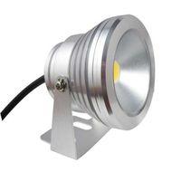 calentador de la piscina al por mayor-Luz subacuática LED LED 10W CA 110v 220v DC 12V Fuente de acuario Lámpara de piscina Luz IP68 Lavado impermeable Luz de punto Luces blancas cálidas