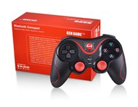 Wholesale Ipad Ios Controller - Wireless Bluetooth Gamepads Gaming Controller GEN GAME S5 Joystick Gamepads for IOS iPad Android Smart TV with holder