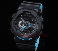 Wholesale Plastic Strapping Buckles - luxury watch Original Color Top quality GA110 2 COLOR STRAP Auto light Waterproof Glasses dial All pointer work Sport men's watch