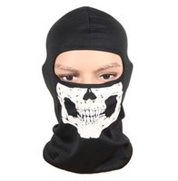 ingrosso bicicletta halloween-Motociclo della bici della bicicletta Skull Hood Maschera Sciarpa fantasma sci Passamontagna Halloween Party CS casco di sport Snood Hat Sciarpe Cap Neck