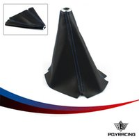 Wholesale PQY PVC Carbon Fiber Look Red Blue JDM Stitch Shift Knob Shifter Boot Cover MT AT