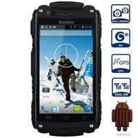 gps android a prueba de golpes 3g al por mayor-Discovery V8 3G SmartPhone resistente al agua a prueba de golpes 4.0