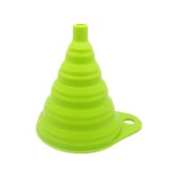 Wholesale Rubber Funnel - S5Q Portable Multifunction Retractable Folding Funnel Home Kitchen Silicone Funnel AAAGEV