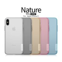 Wholesale Soft Iphone Transparent Covers - NILLKIN phone case for apple iphone x NILLKIN natrue series TPU Transparent super soft back cover phone case