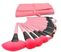 24 make-up pinsel set rosa großhandel-NEUE mode nützlich 24 stücke rosa ziegenhaar Professionelle Make-Up Pinsel Sets Kosmetik gesichtspflege kits