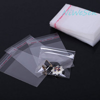 Wholesale adhesive shipping pouches resale online - 1000pcs x9cm Clear Self Adhesive Seal Plastic bag reusable earing jewelry candy packing pouch all clear poly bag