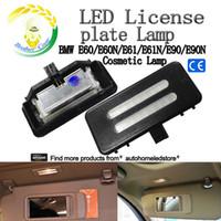 Wholesale Bmw F25 - 2pc X SMD LED Vanity Mirror Visor Light for BMW E60 E90 E70 E71 E84 F25