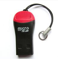 lectores de tarjetas al por mayor-Al por mayor-alta calidad, venta caliente, 100 unids / lote, silbato USB 2.0 T-flash lector de tarjetas de memoria / TFcard / lector de tarjetas micro SD, adaptador de tarjeta TF