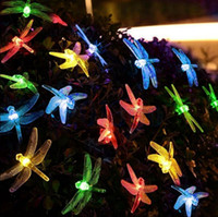 Libelle String Licht Solar Powered 20 LED Fee Im Freien Wasserdicht Garten Terrasse Party Garten Decor OOA3154