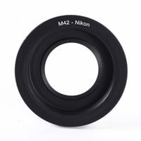 Wholesale M42 Lens Cap - M42 Screw Mount Lens to For Nikon D810 D750 D7200 D3300 D5500 Adapter with Glass + Cap
