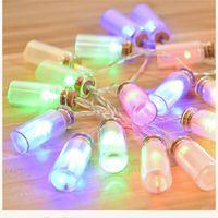 Wholesale Lighted Wishing Tree - Glass Wishing Bottle Christmas String Light Warm White purple pink RGB LED Light Waterproof Romantic Fairy Pendant Halloween Decoration