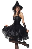 Wholesale Witch Costume Adult Xl - Sexy Adult Halloween Deluxe Women Wicked Witch Costume Party Fancy Dress Outfit AM120830 SIZE MXL