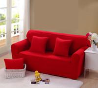 Wholesale Slipcover Sofas - 195-230cm Modern Pure Color Fashion Sofa Covers For Living Room Sofa Cover Stretchable Sofa Cushion Washable Slipcovers Cheap